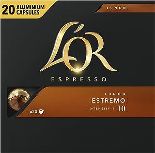 L'OR Espresso Koffiecups Lungo Estremo (200 Lungo Koffie Capsules, Geschikt voor Nespresso Koffiemachines, Intensiteit 10/...