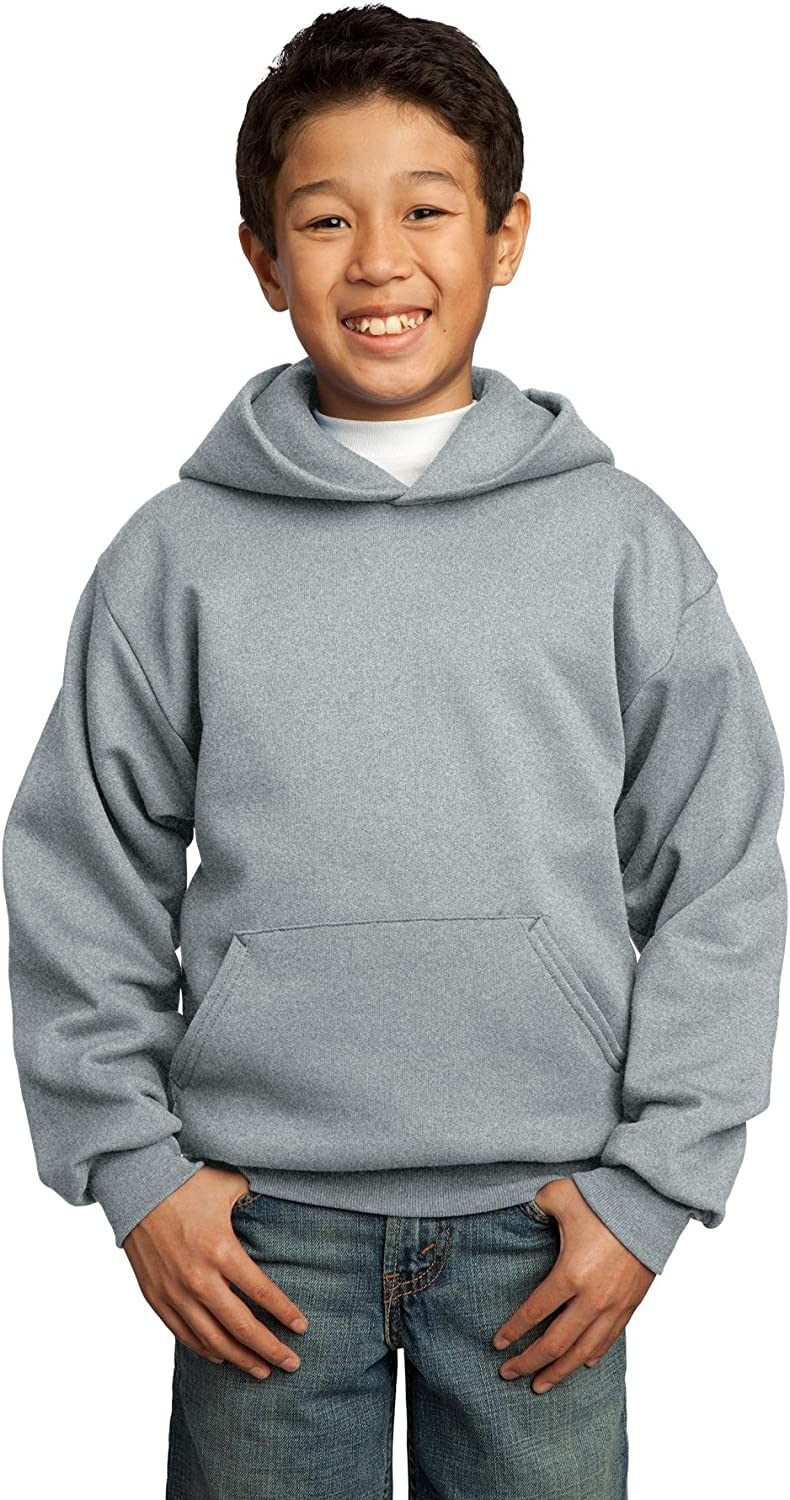 Port & Company-Youth Core Fleece Pullover Hooded Sweatshirt. PC90YH Athletic