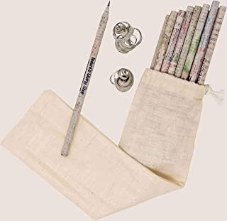 Newspaper Pencils Graphite rolled in newspaper Tree free pencils 100% recycled newspaper pack of 24