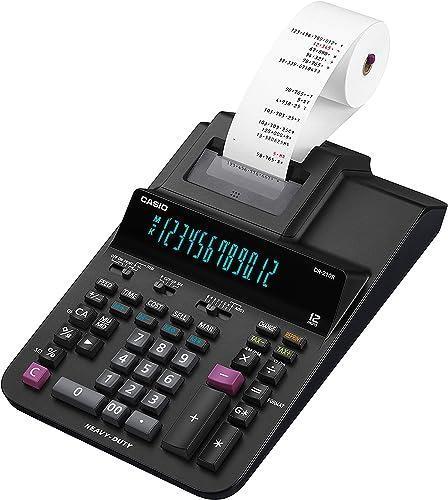 "Casio DR-210R Printing Calculator , Black , 4.4"" x 8.4"" x 15"""