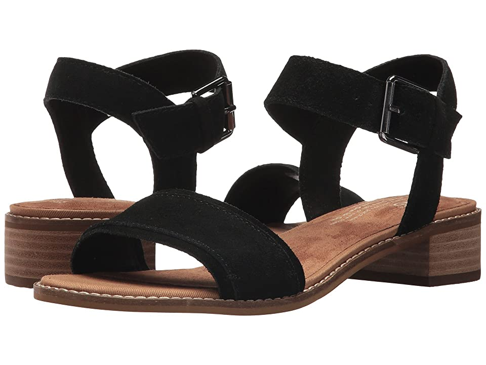 deac8bbf0be4 TOMS Camilia (Black Suede) Women s Sandals