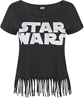 Star Wars Womens/Ladies Logo Fringe Top