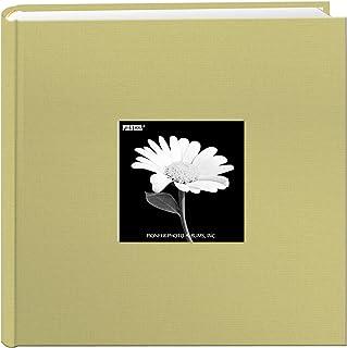 Fabric Frame Cover Photo Album 200 Pockets Hold 4x6 Photos, Soft Yellow