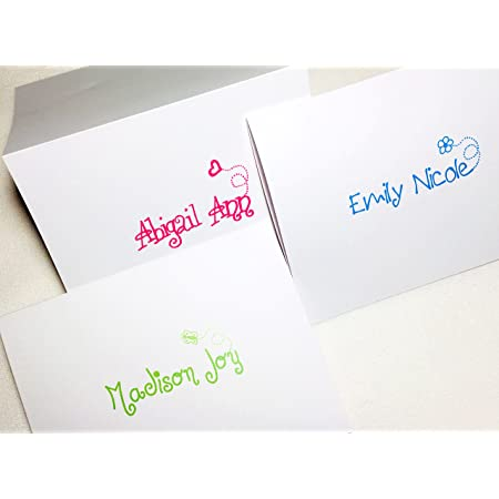 girl stationary boy stationery youth thank you customized colorful set of 8 folded cards personalized note card set FABULOUS FUN