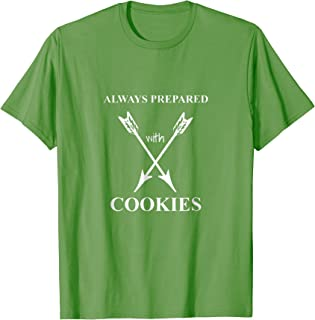 Scouts T-Shirt Always Prepared With Cookies Scouting Dad