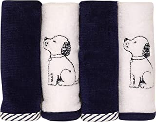 Little Me Puppy Toile 4 Pack Washcloth Set