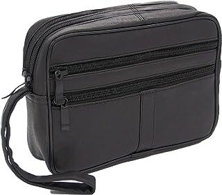 b3a6cfc162 LIVAN® - Pochette vide poche - Sacoche Porté main homme - à glissière - cuir