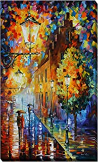 Picture Perfect International Giclee Stretched Wall Art by Leonid Afremov Lights in The Night Artists-Canvas 28