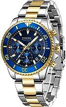 Watch,Mens Watch, Chronograph Waterproof Stainless Steel Luxury Date Analog Quartz Wristwatch for Men