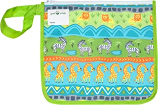 green sprouts Insulated Reusable Snack Bag | Keeps Food Fresh | Insulated Layer, Food-Safe, Waterproof & Easy-Clean Material, Green Safari