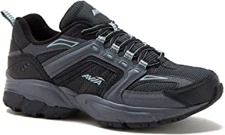 Avia Men's Jag Athletic Sneakers with Memory Foam Footbed, Wide Width (Black Grey, 7.5W)