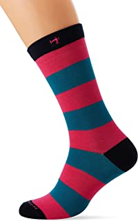 Colourful Stripe and Solid Socks Calcetines, para Hombre