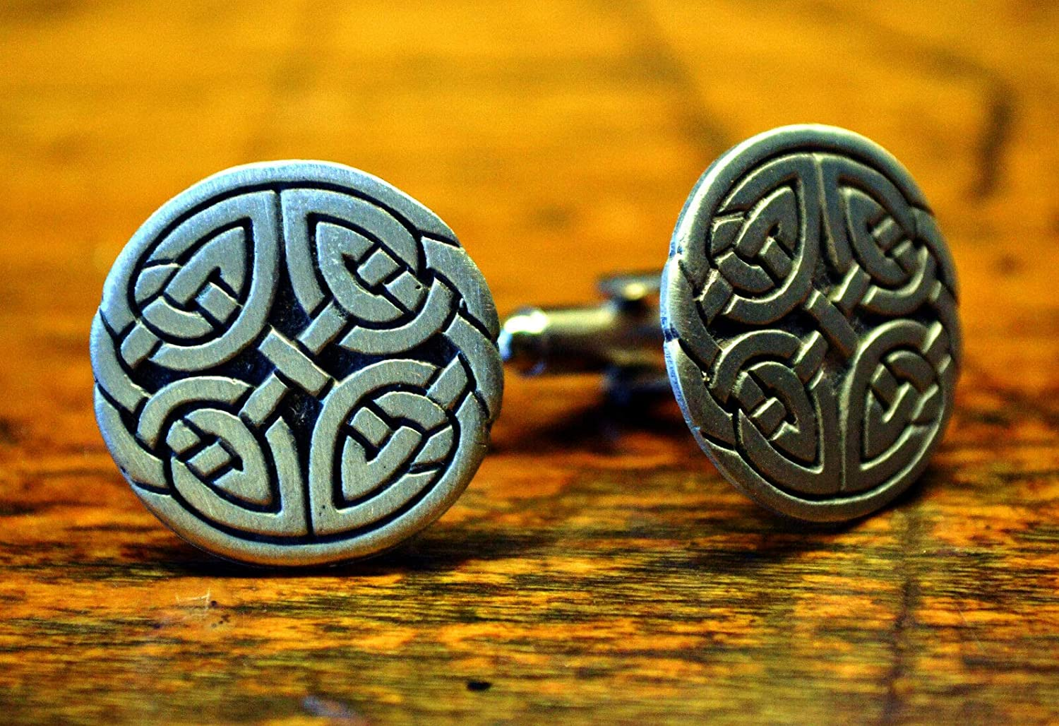 Celtic Cufflinks   Celtic Pewter Jewelry   Cuff Links   Father's Day Gift
