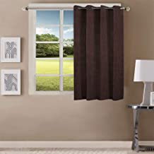 Queenzliving Elegant Solid Crushed Texture Curtain, Window 5 feet- Pack of 1, Brown