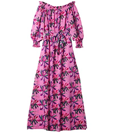 WAYF Cassidy Off-the-Shoulder Maxi Dress (Pink Birds of Paradise) Women