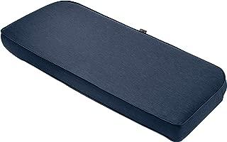 Classic Accessories Montlake Bench Cont. Cushion Foam & Slip Cover, Heather Indigo, 41x18x3