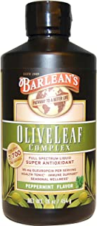 Barleans, Olive Leaf Complex Peppermint, 16 Ounce