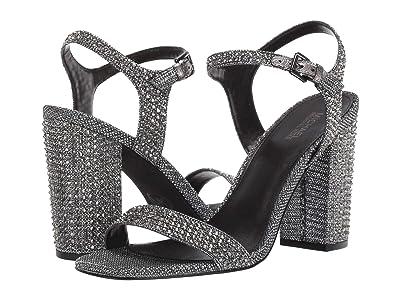 MICHAEL Michael Kors Francine Sandal (Black/Silver) Women