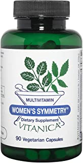 Vitanica Women's Symmetry, High Potency Multivitamin and Mineral, Vegan/Vegetarian, 90 Capsules