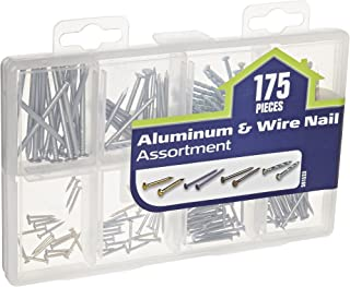 The Hillman Group 591533 Medium Aluminum Wire Nail Assortment 175-Pack