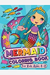 Mermaid Coloring Book: For Kids Ages 4-8 (US Edition) Paperback