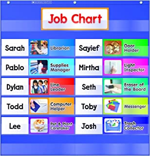 Scholastic TF-5103 Class Jobs Pocket Chart with Cards (Pack of 15)