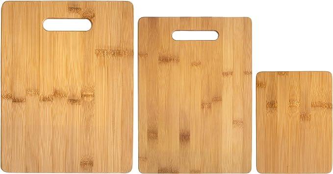 Totally Bamboo 3-Piece Bamboo Cutting Board Set - Quality Bamboo Chopping Board