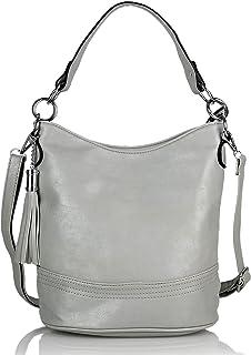 irisaa Damen Handtasche, Hobo Schultertasche, Shopper Multifunktional mit abnehmbarem Schulterriemen Used Look, 4cm Breite...