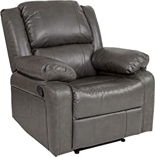 Flash Furniture Harmony Series Gray Leather Recliner - BT-70597-1-GY-GG