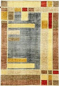 Nain Trading Ziegler Gabbeh 294x201 Annodato a Mano Tappeto Orientale Grigio Scuro/Arancione Afghanistan Design Moderno