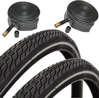 CST Raleigh T1262 Global Tour 700 x 35c Hybrid Bike Tires with Schrader Tubes (Pair)