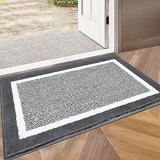 """HEBE Indoor Doormat 24""""x 36"""", Front Door Rug Absorbent Machine Washable Inside Door Mat, Non Slip Low-Profile Entrance Rug..."""
