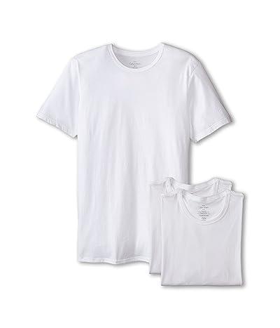 Calvin Klein Underwear Short Sleeve Cotton Classic Slim Fit Crew (White) Men