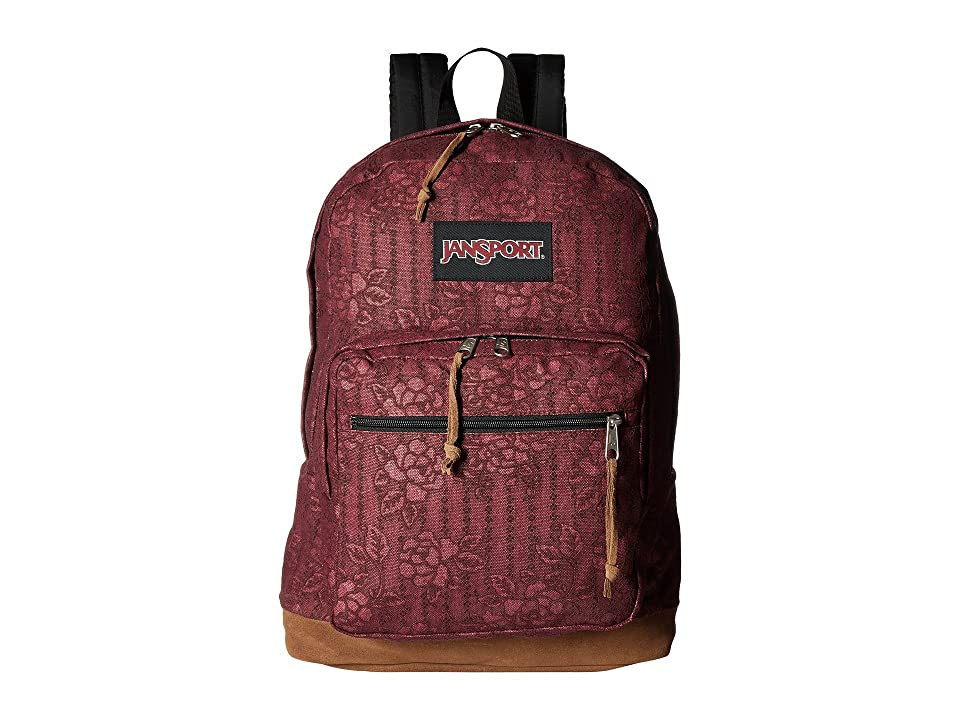JanSport Right Pack Expressions (Debossed Floral) Backpack Bags