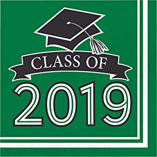 Green Class of 2019 Napkins, 108 ct