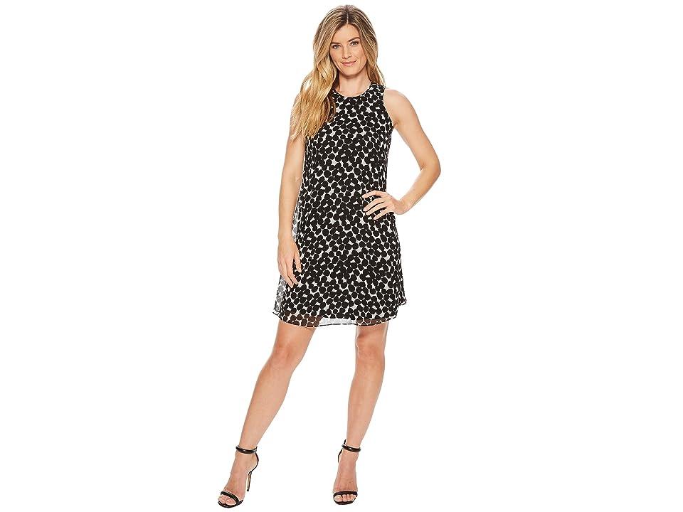Calvin Klein Polka Dot Trapeze Dress CD8HAC2R (Black/White) Women