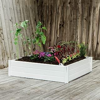 White Planter Box, Elevated Home Gardening, Raised DIY Vinyl Vegetable Garden