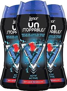 Lenor Unstoppables - Perfume para ropa en perlas; lote de 3