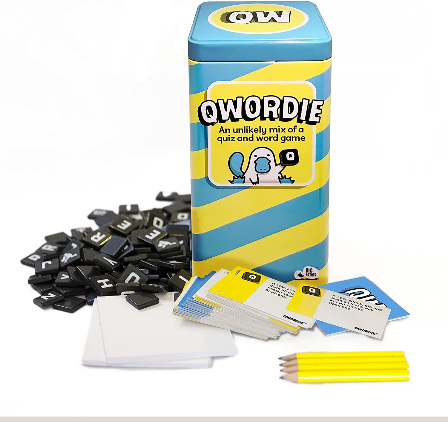 Qwordie  the Quiz and Word Family Board Game