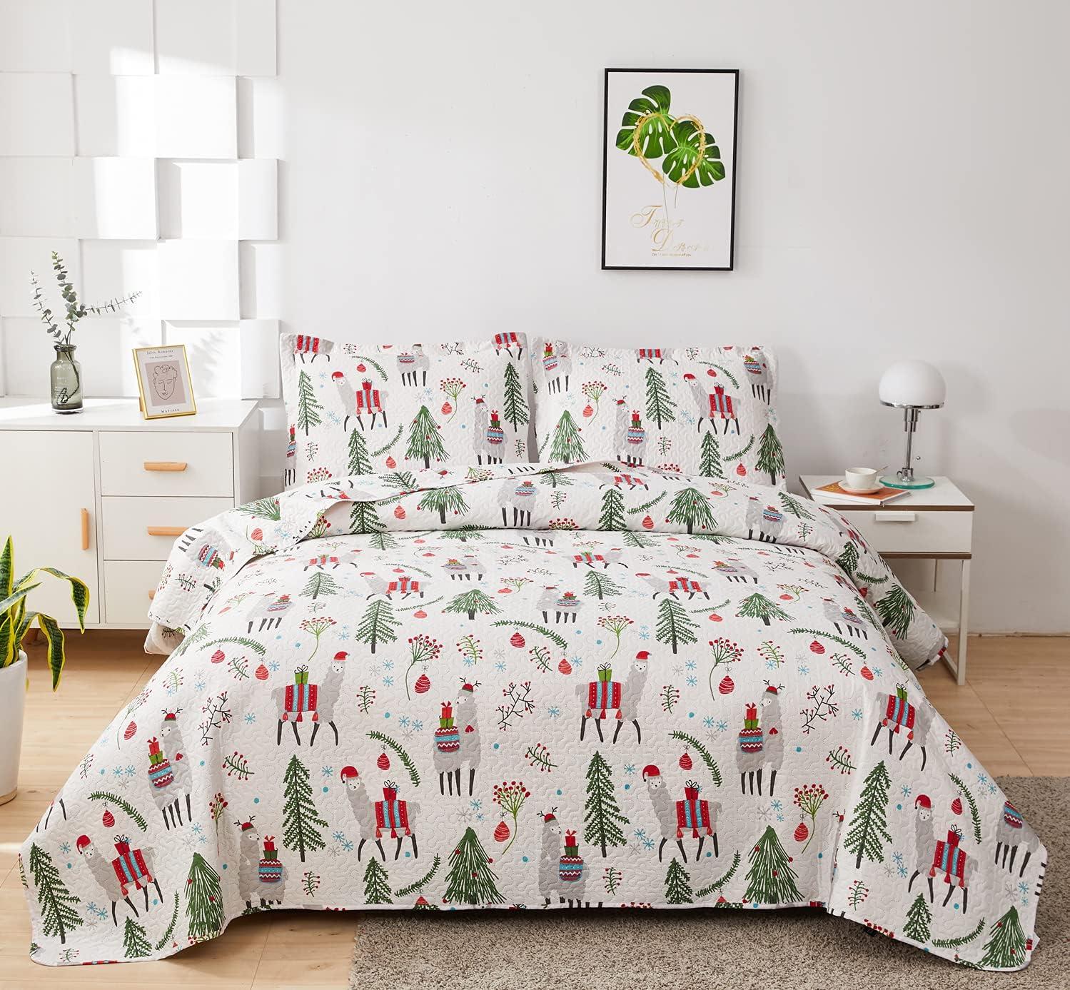 Kids Girls Popular brand in the world Alpaca Cactus Quilt Set Christmas Genuine Size Twin Bed Llama