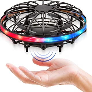 Force1 Scoot LED Hand Drone for Kids - Kids Drone, Flying Ball Drone, Light Up Toys for Boys and Girls (Matte Black)