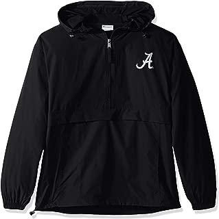 NCAA Men's Half Zip Front Pocket Packable Jacket