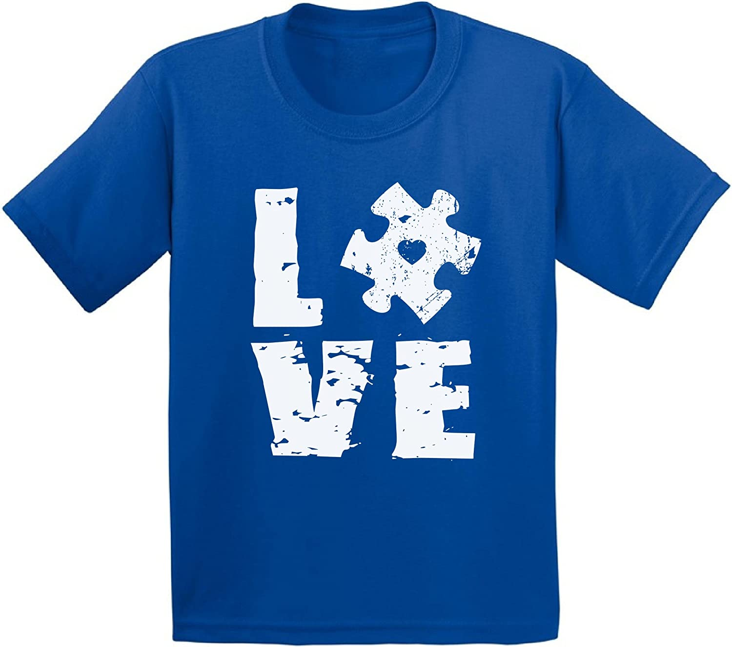 Awkward Styles Toddler Autism Awareness Puzzle Top Autism Shirts for Boys Girls