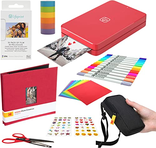 lowest Lifeprint 2x3 Portable Photo and 2021 Video Printer online sale (Red) Scrapbook Edition online