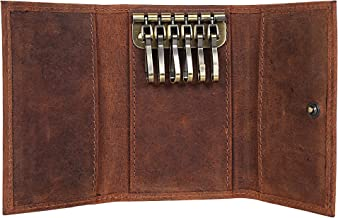 Slim Compact Leather Key Holder Wallet Pouch Gifts Him Her Men Women