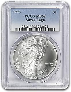 1995 Silver American Eagle 1 OZ MS-69 PCGS