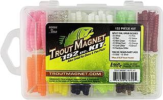 Trout Magnet Original 152-Piece Kit - 120 Split-Tail Grub Bodies and 30 Shad-Dart Jigs