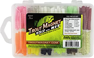 Trout Magnet Original 152-Piece Kit - 120 Split-Tail Grub Bodies and 30 Shad-Dart Jigs