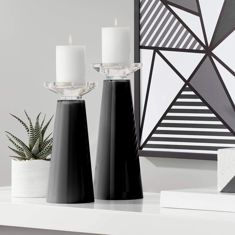Color + online shopping Plus Meghan Tricorn Black Candle Glass Holder Award Set Pillar