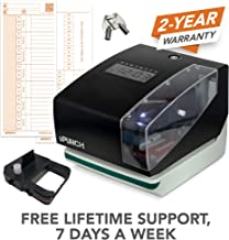 uPunch Digital Time Clock and Date Stamp with 50 Time Cards, 1 Ribbon & 2 Keys (CR1000)
